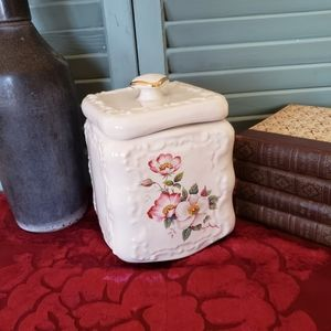Antique Porcelain Storage Container Box